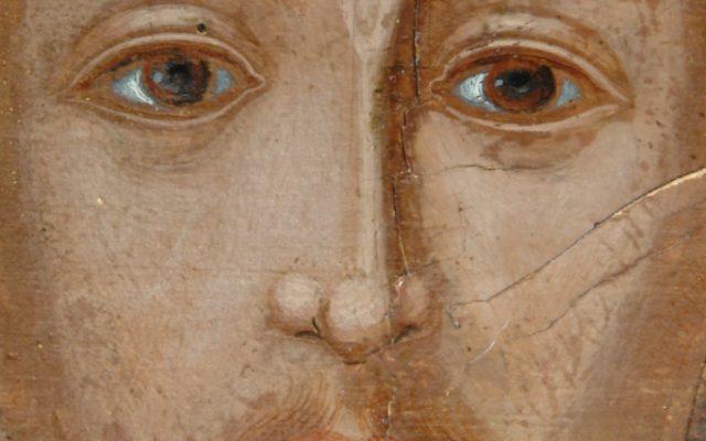 Иконата Св. Св. Три светители детайл след реставрация-3