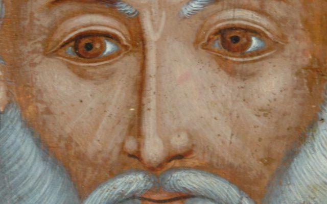 Иконата Св. Св. Три светители детайл след реставрация