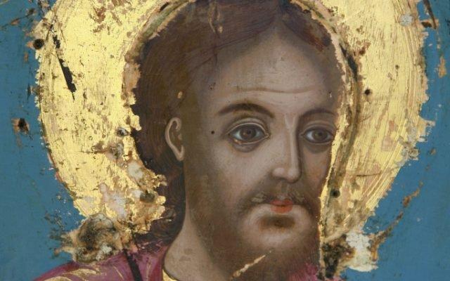 Иконата Св. Теодор Тирон - детайл по време на реставрация
