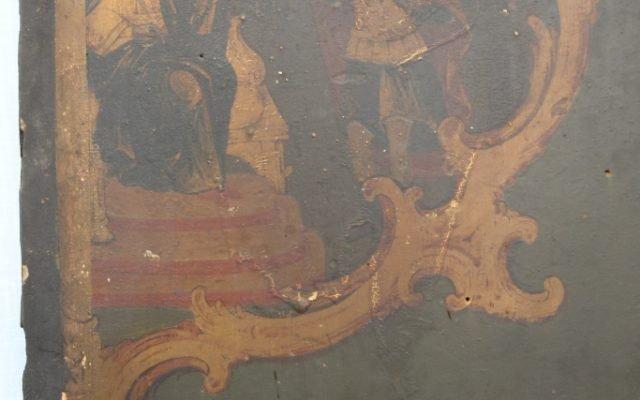 Иконата Св. Теодор Тирон - детайл преди реставрация-4