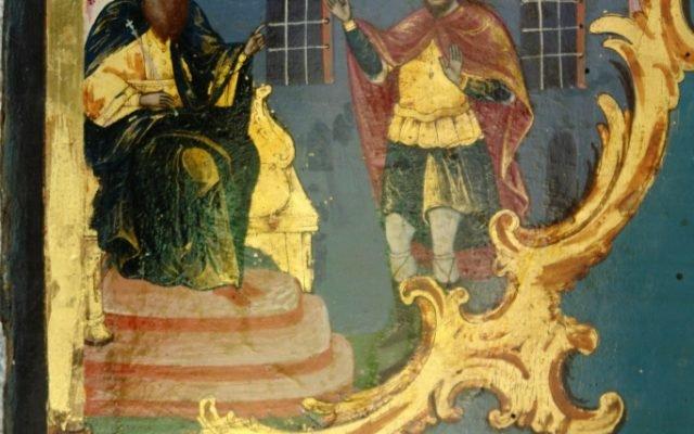 Иконата Св. Теодор Тирон - детайл след реставрация-3