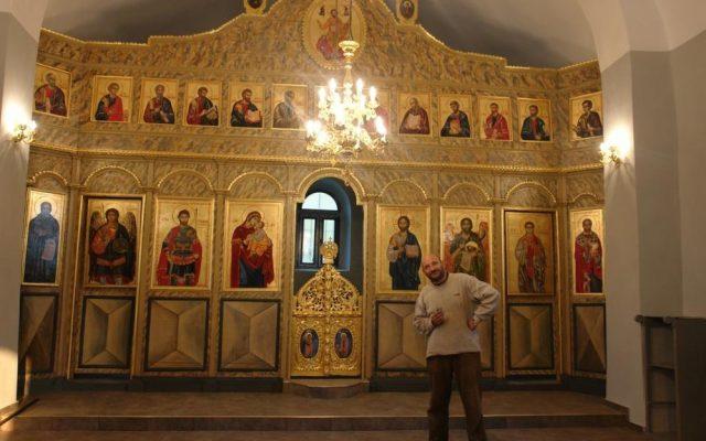 Иконостаса в хр. Св. Теодор-Стратилат след реставрация