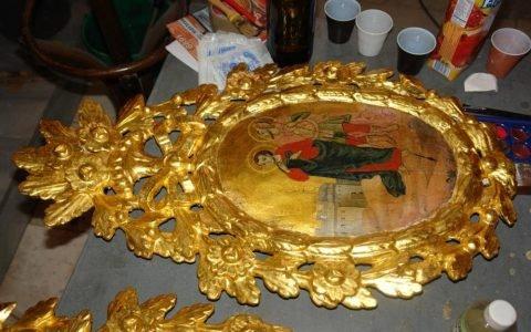 Китра от иконостаса в храм Св. Георги -Созопол след реставрация-2