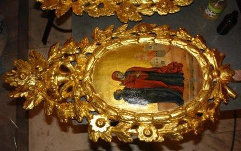Китра от иконостаса в храм Св. Георги -Созопол след реставрация