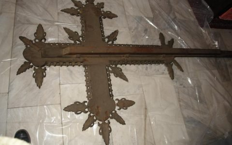 Кръста от иконостаса в храм Св.Георги - Созопол преди реставрация - гръб