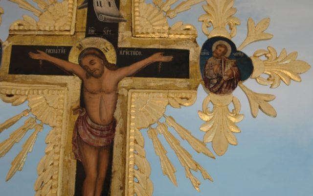 Кръста от иконостаса в храм Св.Теодор Стратилат - Подвис след реставрация_