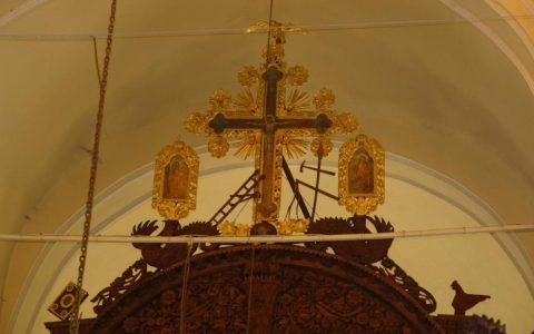 Кръста от иконостаса в храм Св. Йоан Богослов - Карнобат след реставрация