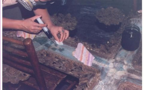 Кръста по време на реставрация реставрация - укрепване