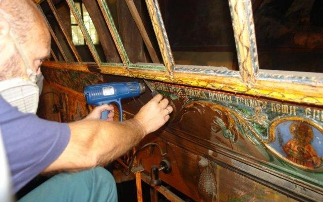 По време на работа на иконостаса в храм Св.Николай-с.Челопеч