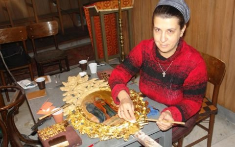 По време на работа по кръста от храм Св. Георги - Созопол