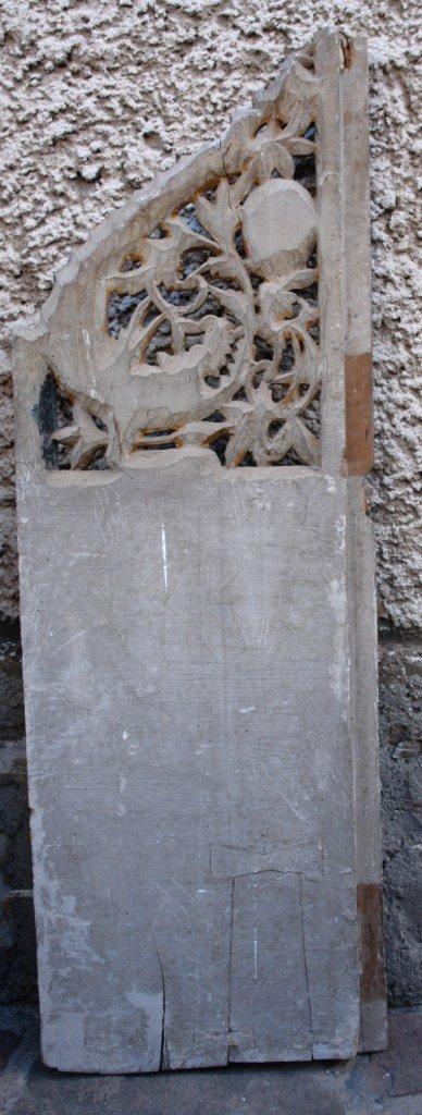 Царските двери от храм Св.Теодор Стратилат преди реставрация-гръб
