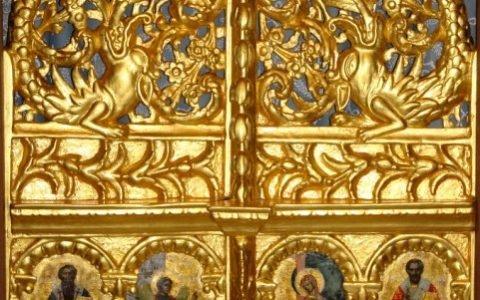 Царските двери от храм Св. Георги - Созопол след реставрация