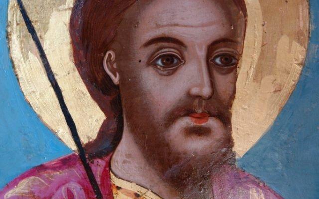 иконата Св. Теодор Тирон - детайл след реставрация