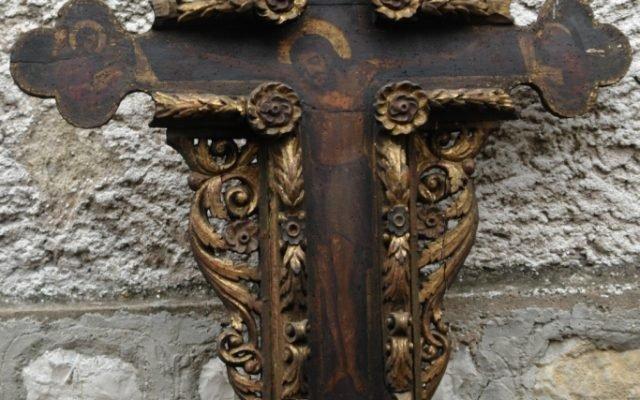 Иконостасния кръст преди реставрация