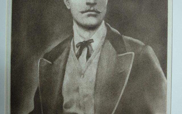 Васил Левски - офорт, лице след реставрация