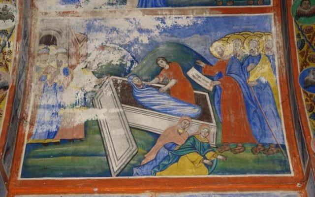 Воскресение Лазарево преди реставрация