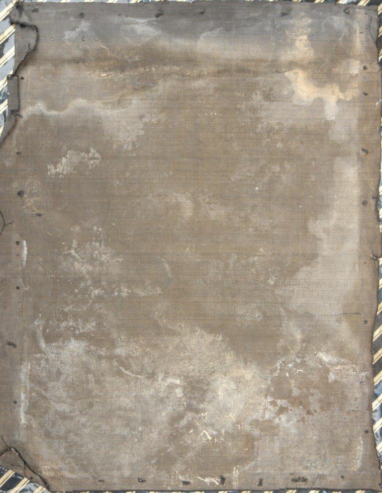 Гръб на картината преди реставрация
