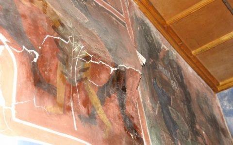 Детайл от западната стена преди реставрация