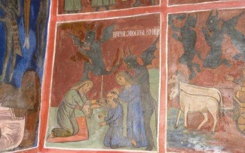 Детайл от западната стена след реставрация