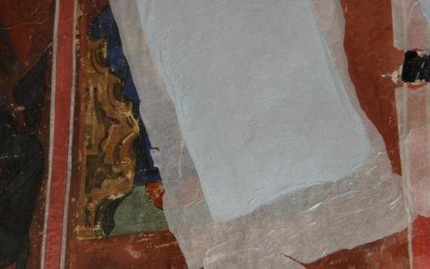 Детайл от западната стена - укрепване