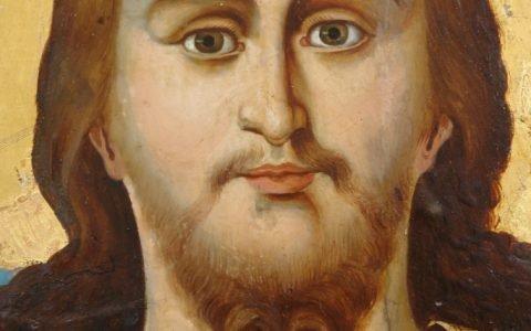Иконата Иисус Христос - детайл след реставрация-2