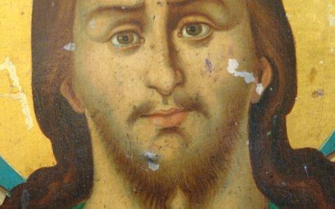 Иконата Йоан Кръстител - детайл преди реставрация