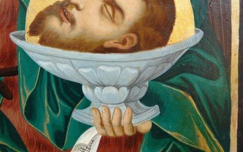 Иконата Йоан Кръстител - детайл след реставрация-2