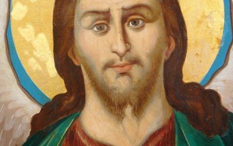 Иконата Йоан Кръстител - детайл след реставрация