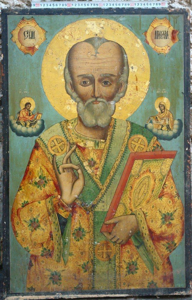 Иконата Св.Николай - преди реставрация