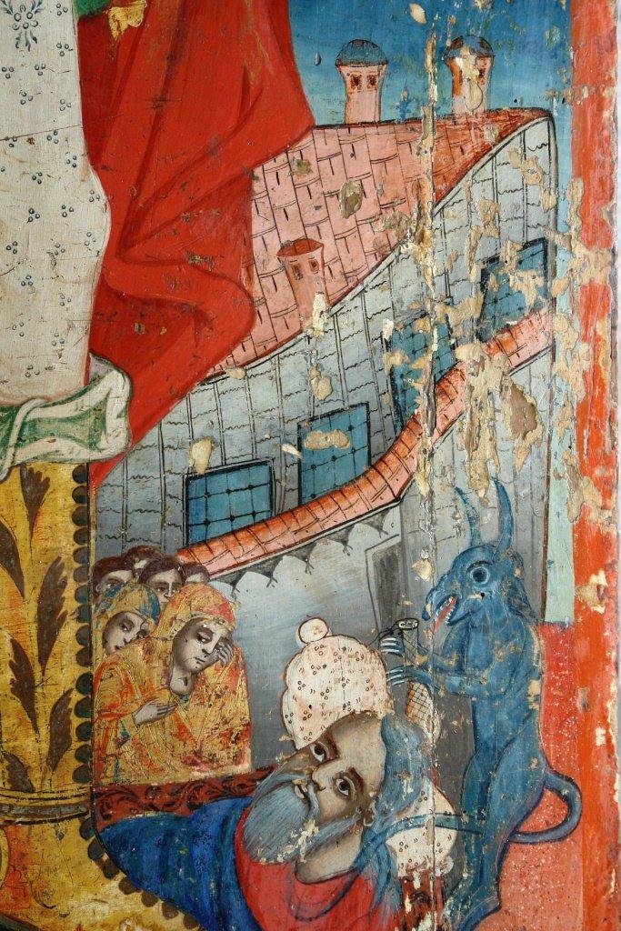 Иконата Св. Арх. Михаил - детайл по време на реставрация-2