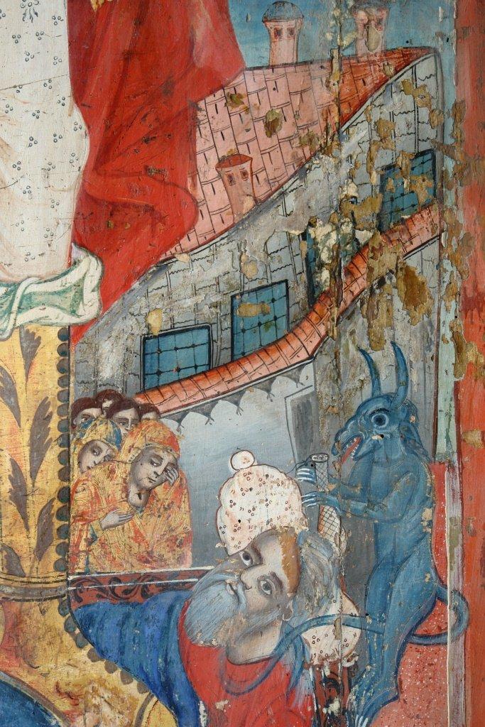 Иконата Св. Арх. Михаил - детайл по време на реставрация-3