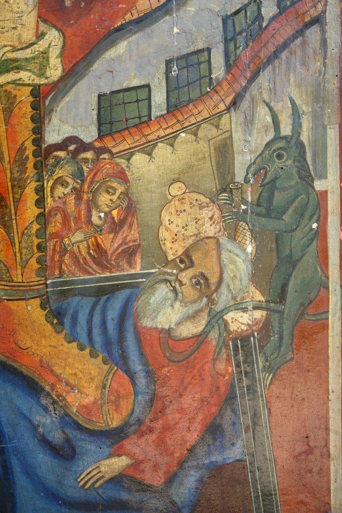 Иконата Св. Арх. Михаил - детайл преди реставрация-2