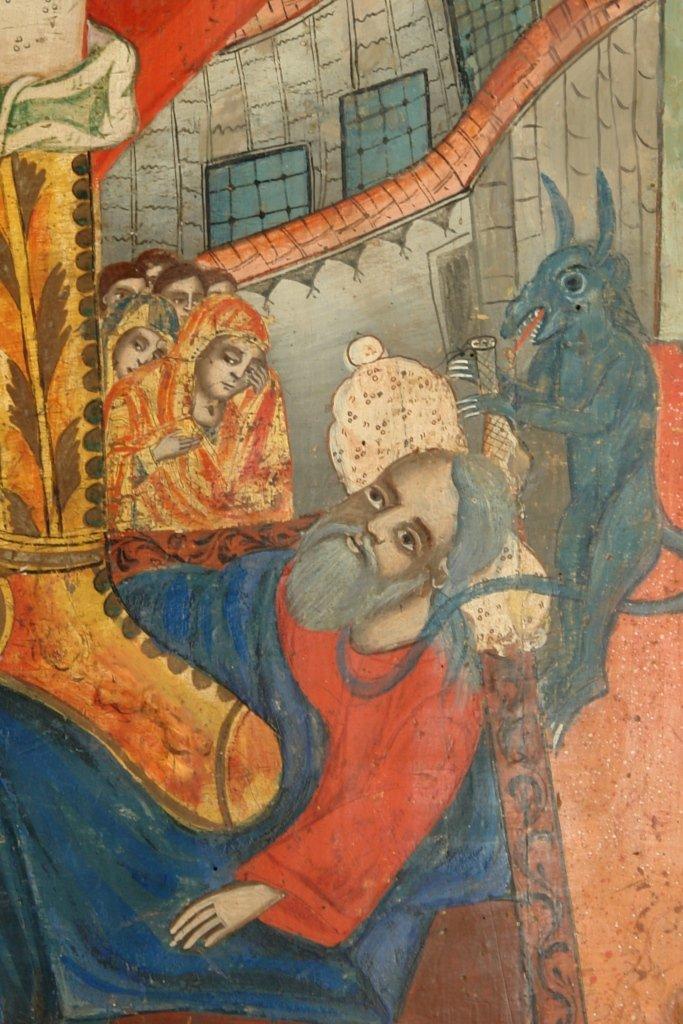 Иконата Св. Арх. Михаил - детайл след реставрация-2