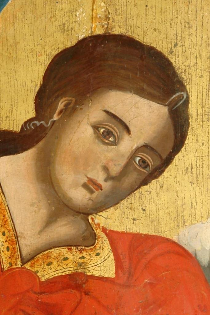 Иконата Св. Арх. Михаил - детайл след реставрация