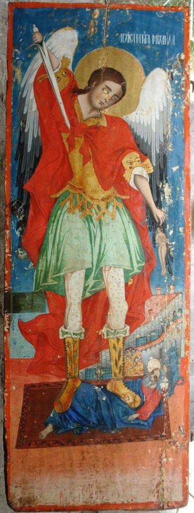 Иконата Св. Арх. Михаил - по време на реставрация-2