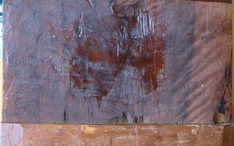 Иконата Св. Богородица гръб след реставрация