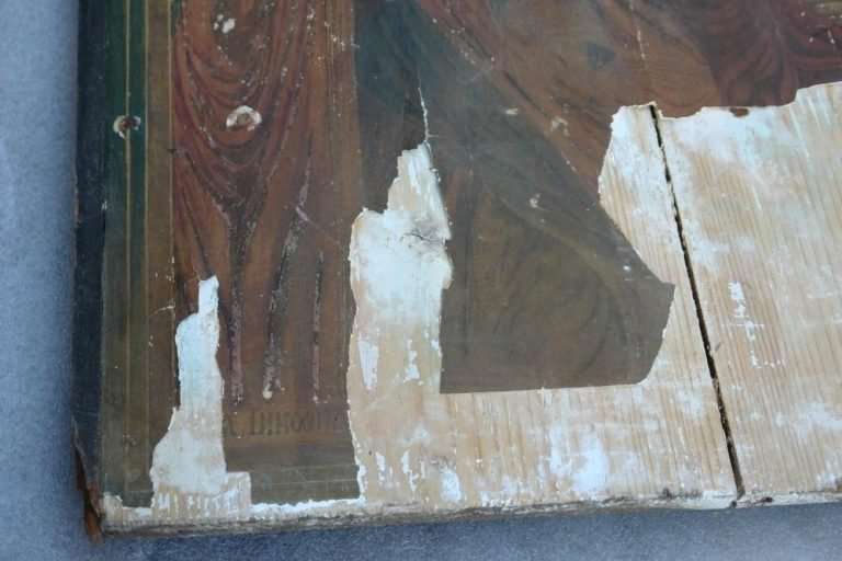 Иконата Св. Богородица - детайл преди реставрация-3