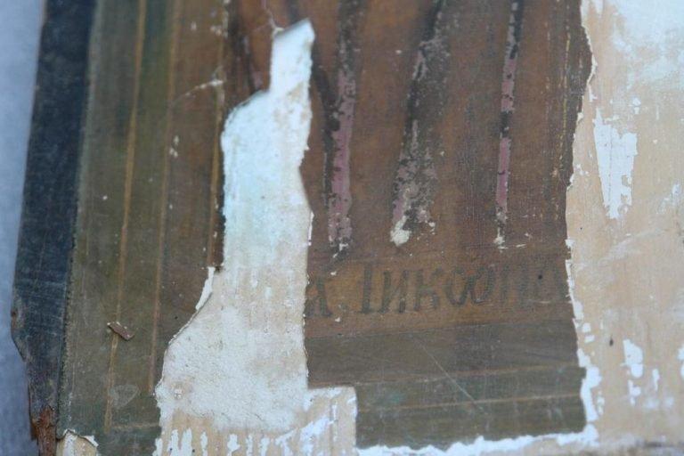 Иконата Св. Богородица - детайл преди реставрация-4