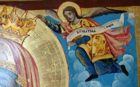 Иконата Св. Богородица детайл след реставрация-3