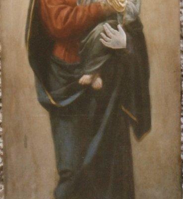 Иконата Св. Богородица - преди реставрация