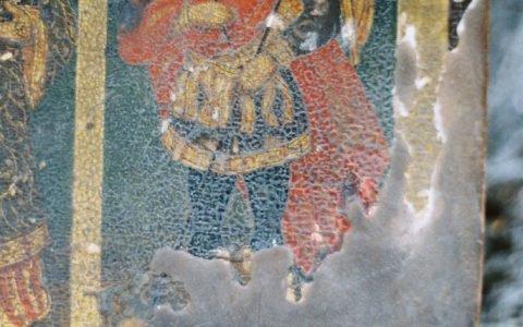 Иконата Св. Богородица с петима светци детайл преди реставрация-3