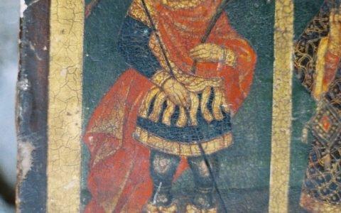 Иконата Св. Богородица с петима светци детайл преди реставрация-4