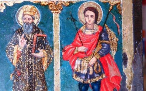 Иконата Св. Богородица с петима светци детайл след реставрация-2