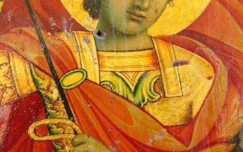 Иконата Св. Георги - детайл преди реставрация