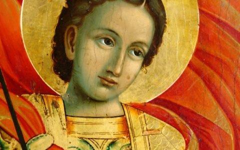 Иконата Св. Георги - детайл след реставрация