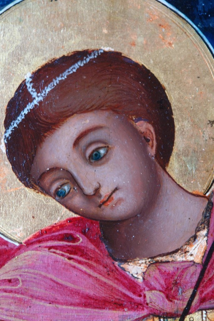 Иконата Св. Димитърна кон - детайл след реставрация-2