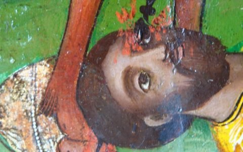 Иконата Св. Димитърна кон - детайл след реставрация-3