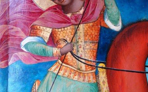 Иконата Св. Димитърна кон - детайл след реставрация