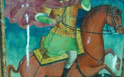 Иконата Св. Димитърна кон - по време на реставрация с китове