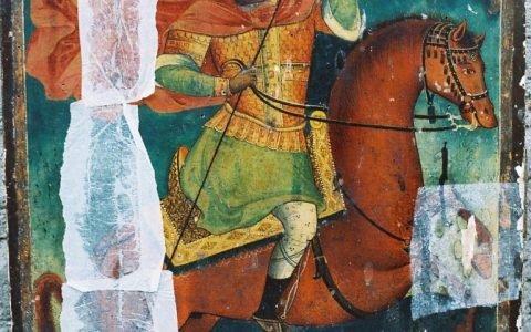 Иконата Св. Димитърна кон - по време на укрепване